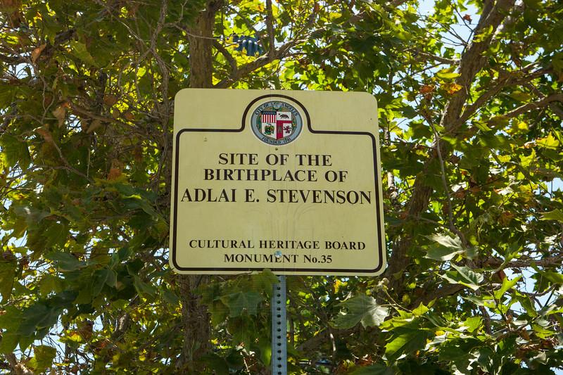 Adlai Stevenson Birthplace Historical Marker