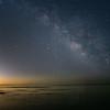 Milky Way with satelite flare.