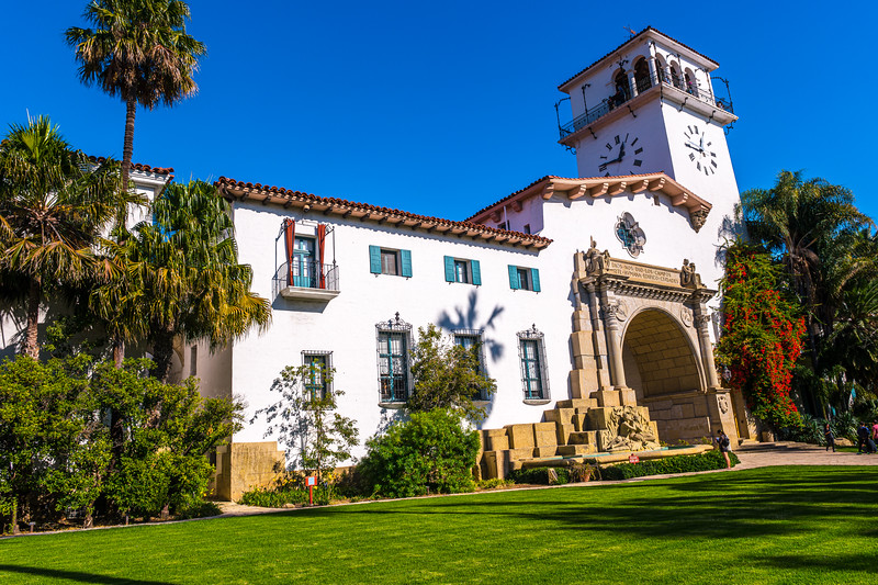 Santa Barbara County Courthouse Main Entrance