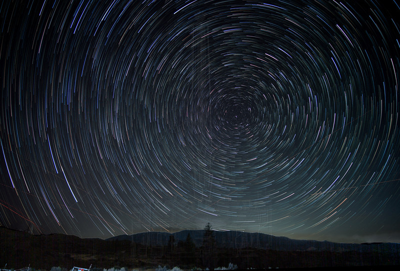 Star Trails Above Mt. Pinos