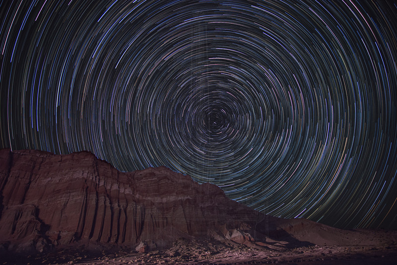 Star Trails over The Red Cliffs