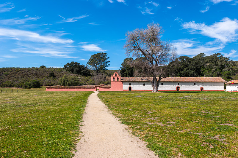 La Purisima Mission chapel.
