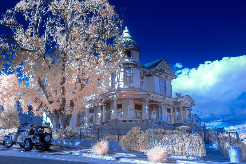 Since the clouds behind this house looked nice, I thought the IR picture would look nice. This is the one house not on Carroll Street, it's on Edgewater and Douglas.