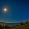 Moonlit night at Leo Carrillio State Beach
