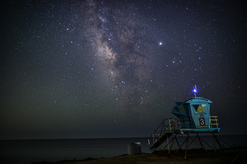 Landscape Milky Way at Leo Carrillio State Beach