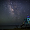 Landscape Milky Way at Leo Carrillio State Beach