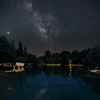 Milky Way over Chinese Garden at The Huntington.