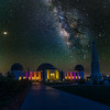 Milky Way over Griffith Observatory.