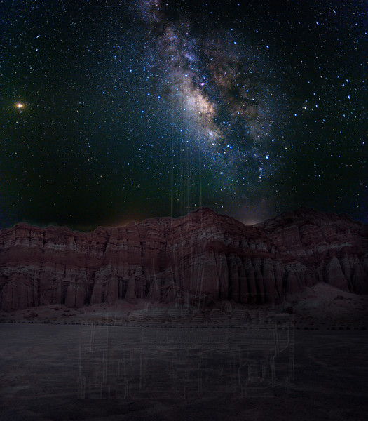 Milky Way over Red Cliffs