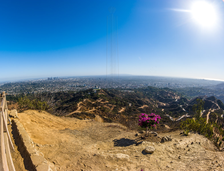 Downtown LA from Mt. Hollywood(with Fisheye!)