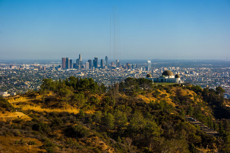 Downtown LA and Griffith Observatory.