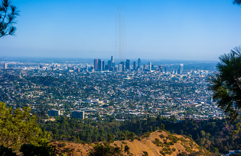 Downtown LA from Daunte's View