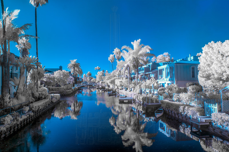 Venice canal in IR.