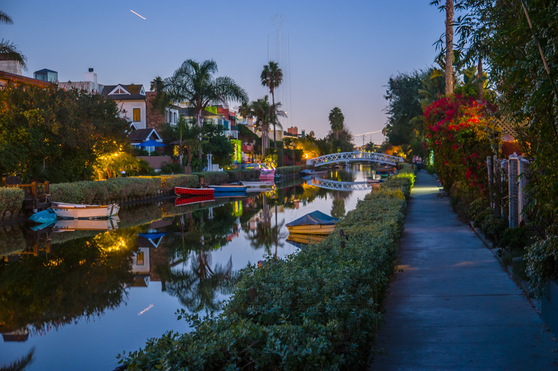 Grand Canal at night.