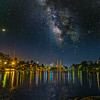 Milky Way over Echo Park Lake.