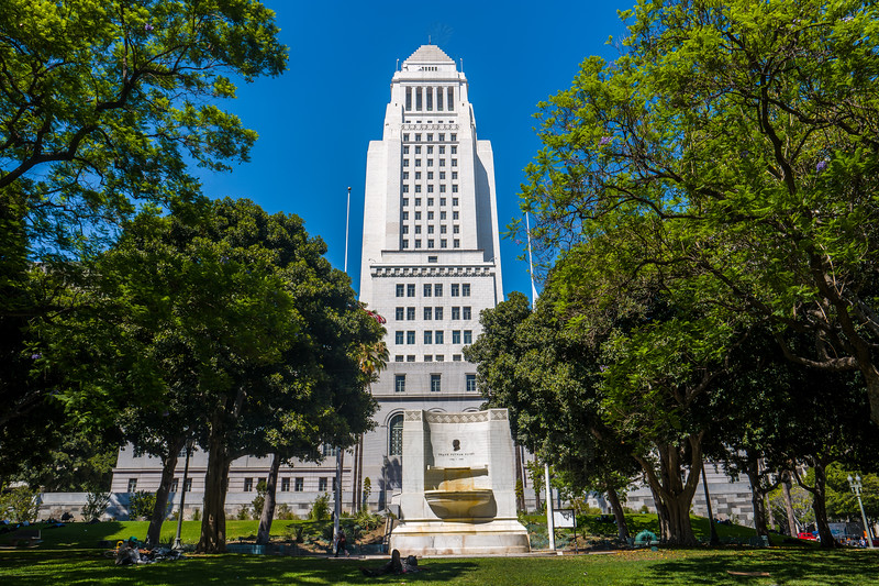 LA City Hall from the south.