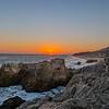 Sliver of sun lights Point Sequit.