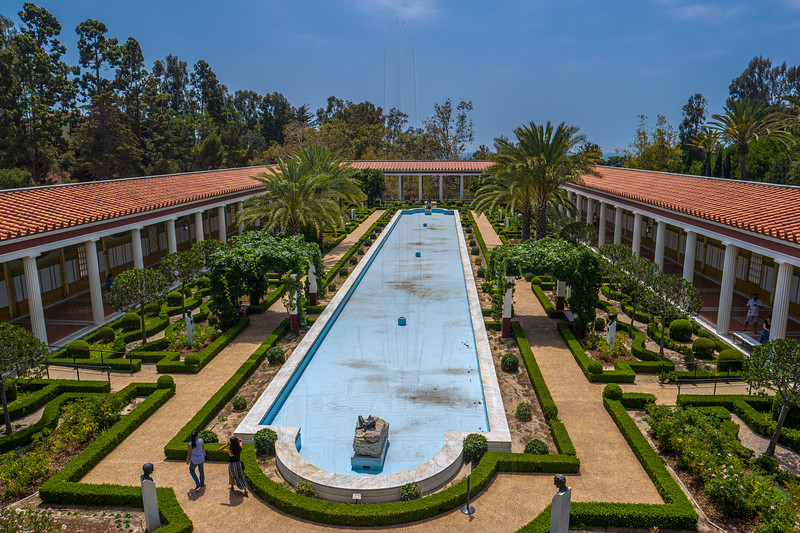 Outer peristyle from the second floor of the museum.