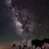 Milky Way over volcanic rock