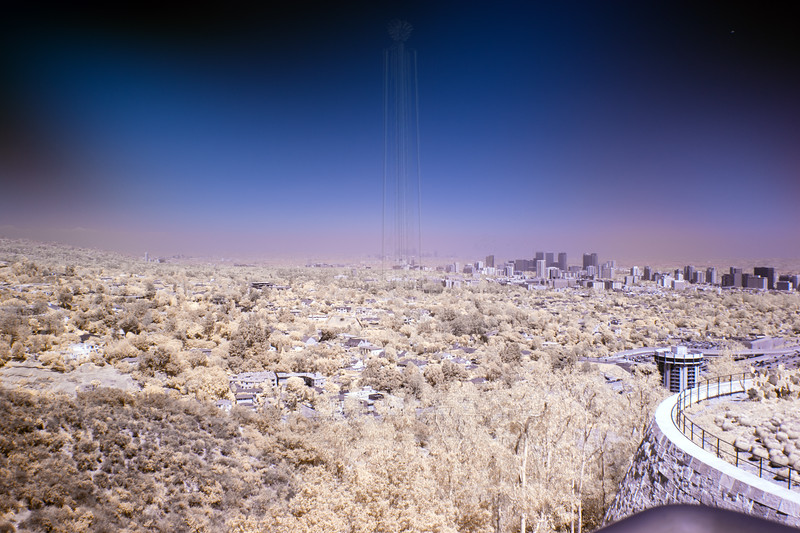 UCLA with downtown LA in the background(Infrared).