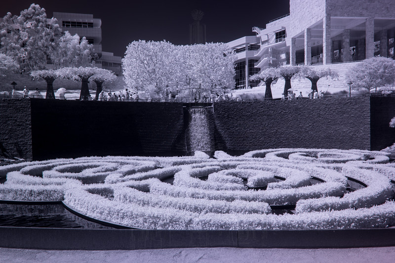 Waterfall and pool in the garden(infrared).