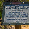 Historical marker on Echo Mountain.