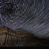 Vortex effect centered to the upper left at Red Rock Canyon State Park.