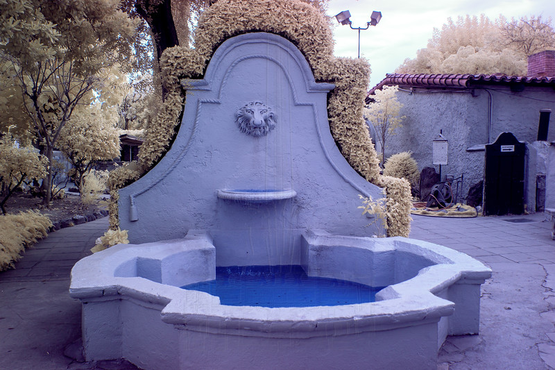 Small fountain in infrared