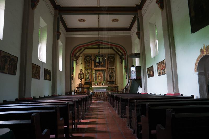 Mission San Gabriel chapel.