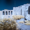 """""""The Great Stone Church"""" and the four-bell campanario in infrared."""