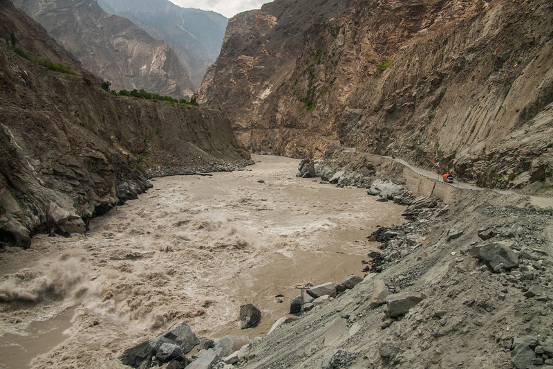 Massive rapids on the Indus river by the Skardu-Gilgit highway