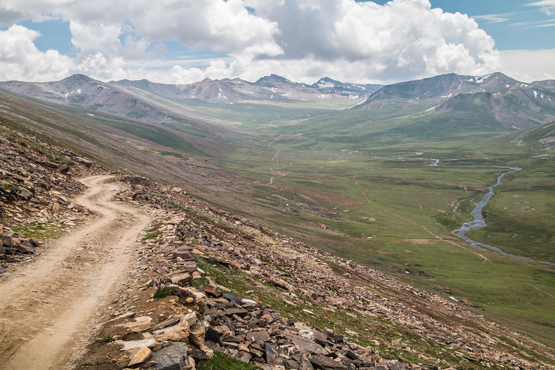We went on two different day-long road trips while we were in the mountains. The Himalayas here are so beautiful! On this first trip we drove to this remote valley at 13,000 ft. After a couple of hours on a paved road we turned off on this rough dirt track for about an hour.