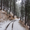 An early winter snow on the road to Shogran, Kaghan