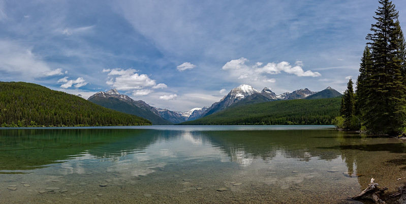 Bowman Lake pano