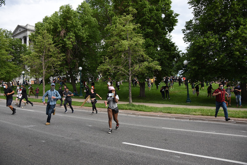 Thousands of residents took to the streets of downtown Denver and surrounding neighborhoods to protest police brutality throughout the summer of 2020. Photos by Emily Maxwell.