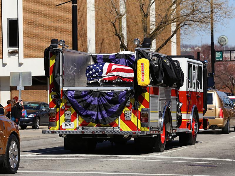 Funeral for Fallen Firefighter FAO Daryl Gordon