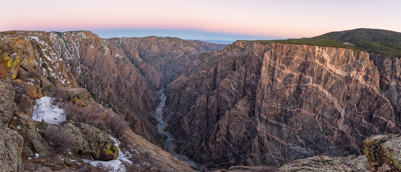 """Painted Rock & River"" Black Canyon NP, Gunnison, Colorado"