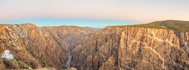 """Black Canyon of the Gunnison at sunrise"", Colorado"