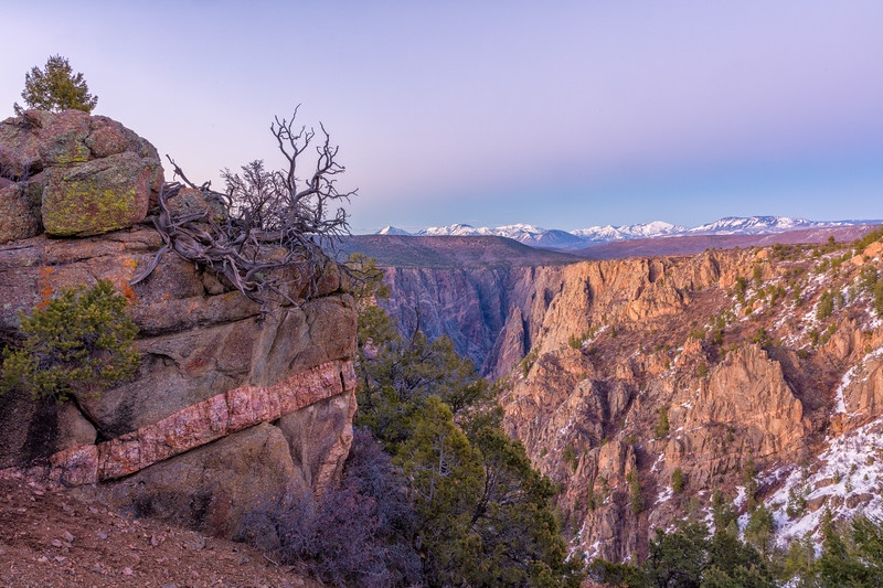 """Mt Gunnison Sunset"" Black Canyon NP, Gunnison, Colorado"