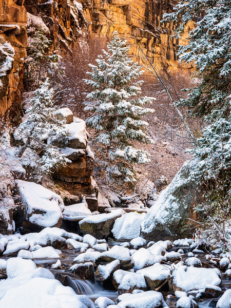 """First snow in the canyon 3"", Curecanti Trail, Gunnison, Colorado"