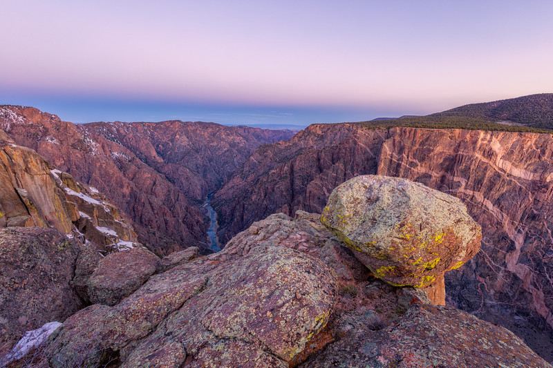 """Sunrise over Painted Rock"" Black Canyon NP, Gunnison, Colorado"