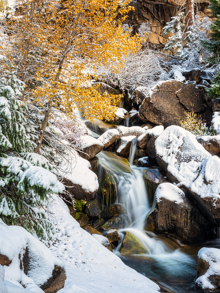 """First snow in the canyon 2"", Curecanti Trail, Gunnison, Colorado"