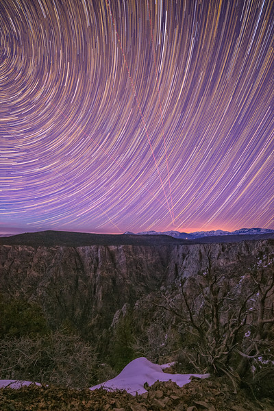 """Planes in the Night Sky"" Black Canyon NP, Gunnison, Colorado"