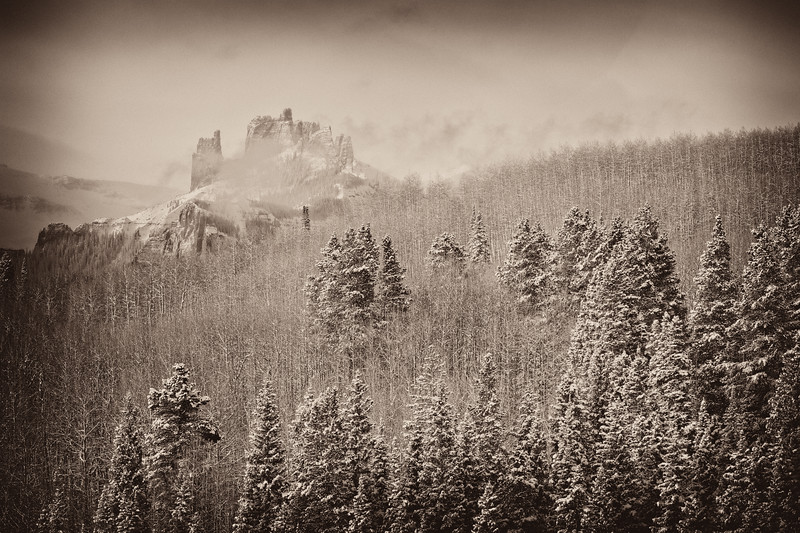 """Castles Clearing Storm"" West Elk Wilderness, Colorado"