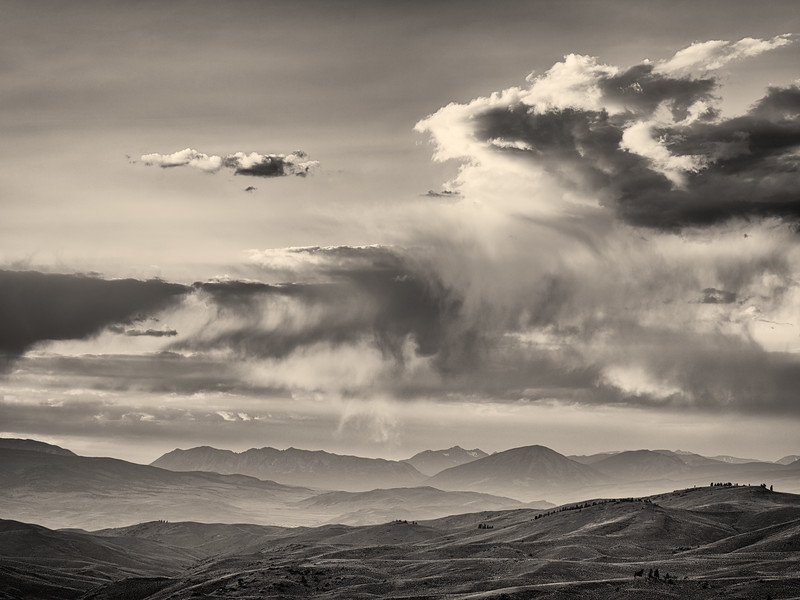 """Clouds over the valley"" Gunnison, Colorado"