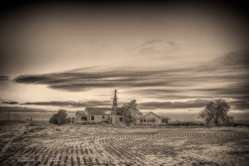 """Farmhouse and Windmill"" Great Sand Dunes, Colorado"