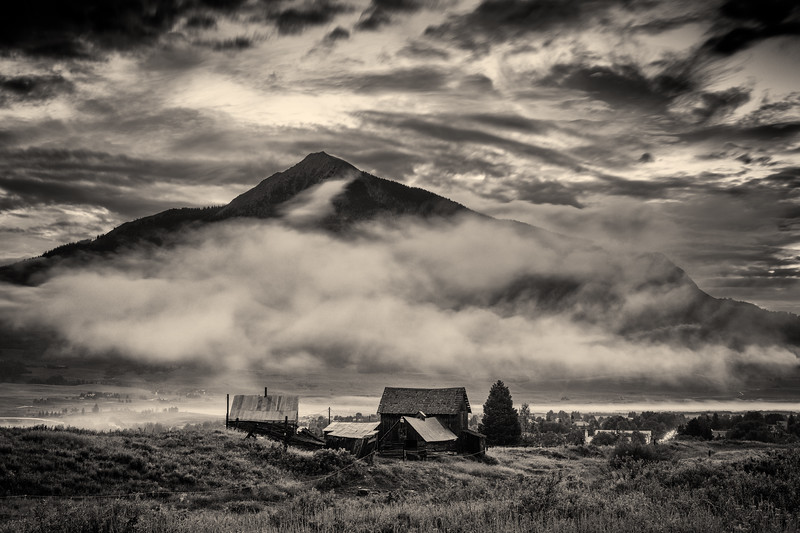 """Crested Butte Mountain in the Mist"" Crested Butte, Colorado"
