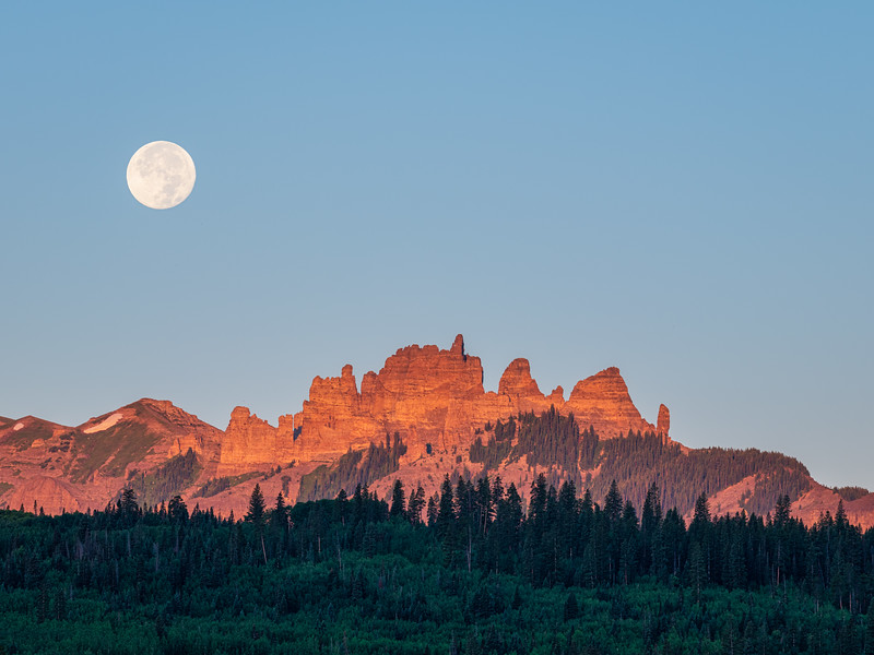 """Moon over The Castles"", Gunnison, Colorado"