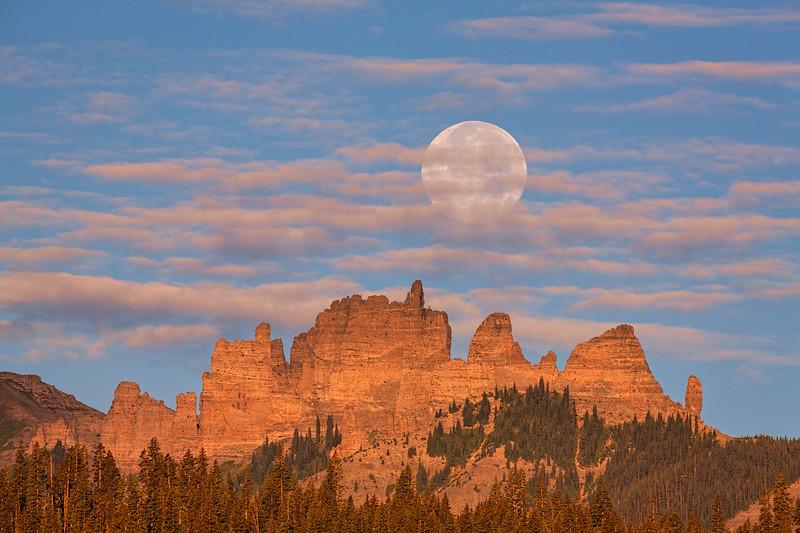 """Full Moon over Castles"" Ohio Creek, Colorado"