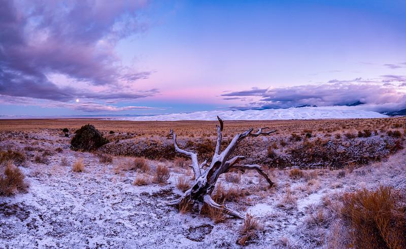 """Snowy Sunrise"" The Great Sand Dunes N P, Colorado"